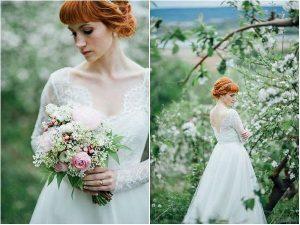 magnifique mariée dans sa robe sur le 08
