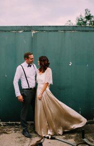magnifique mariée dans sa robe sur le 17