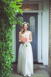 magnifique mariée dans sa robe sur le 44