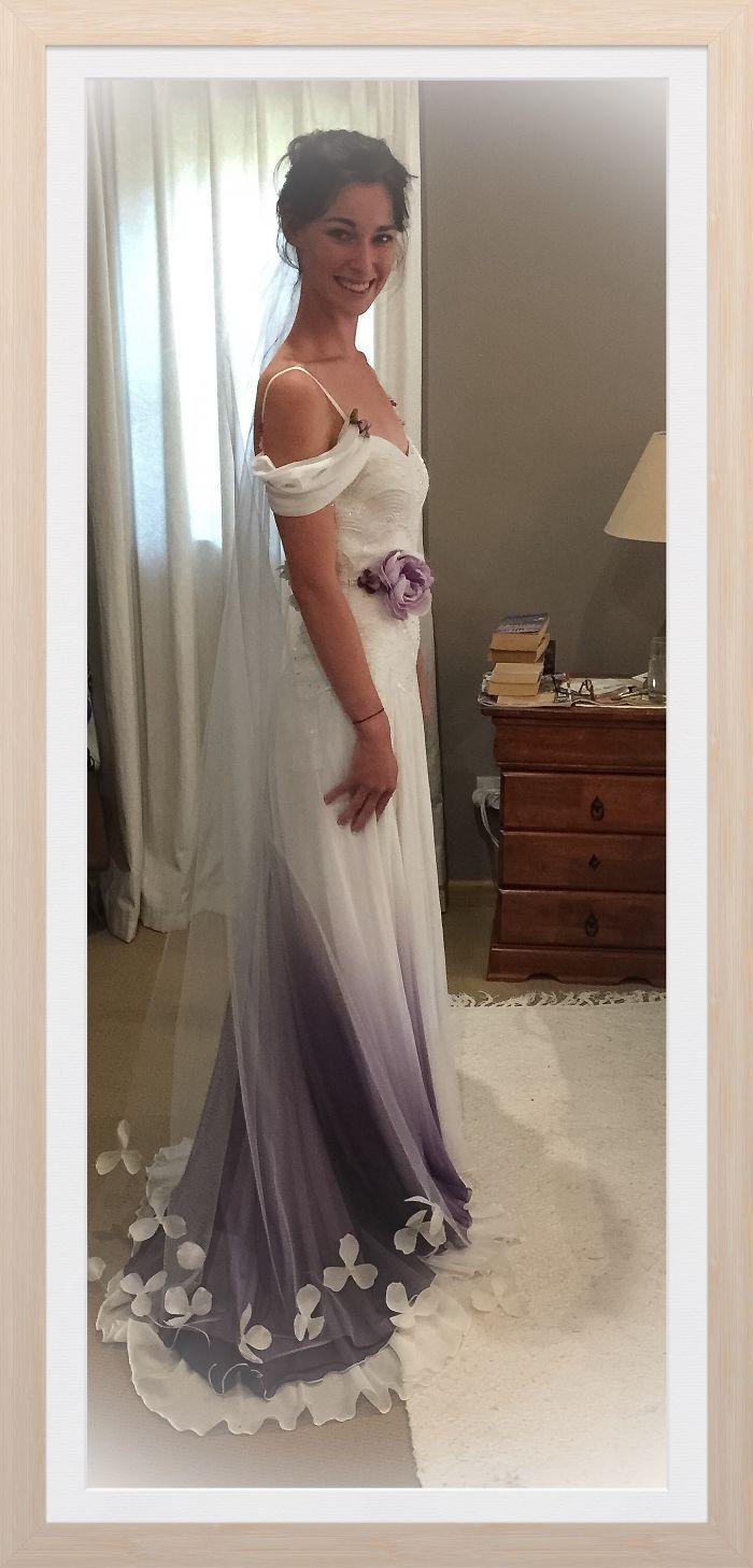 magnifique mariée dans sa robe sur le 78