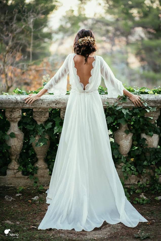 robe de mariée photo dans le 49