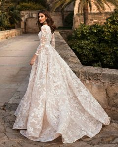 robe col bateau mariage